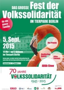 Plakat Tierparkfest der Volkssolidarität